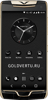 Телефон Vertu Constellation X Alligator Black Red Gold