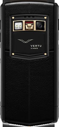 Телефон Верту Ti Titanium Black PVD Red Gold Mixed Metals