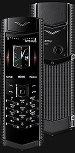 Купить Vertu Signature S Design Clous De Paris Pure Black